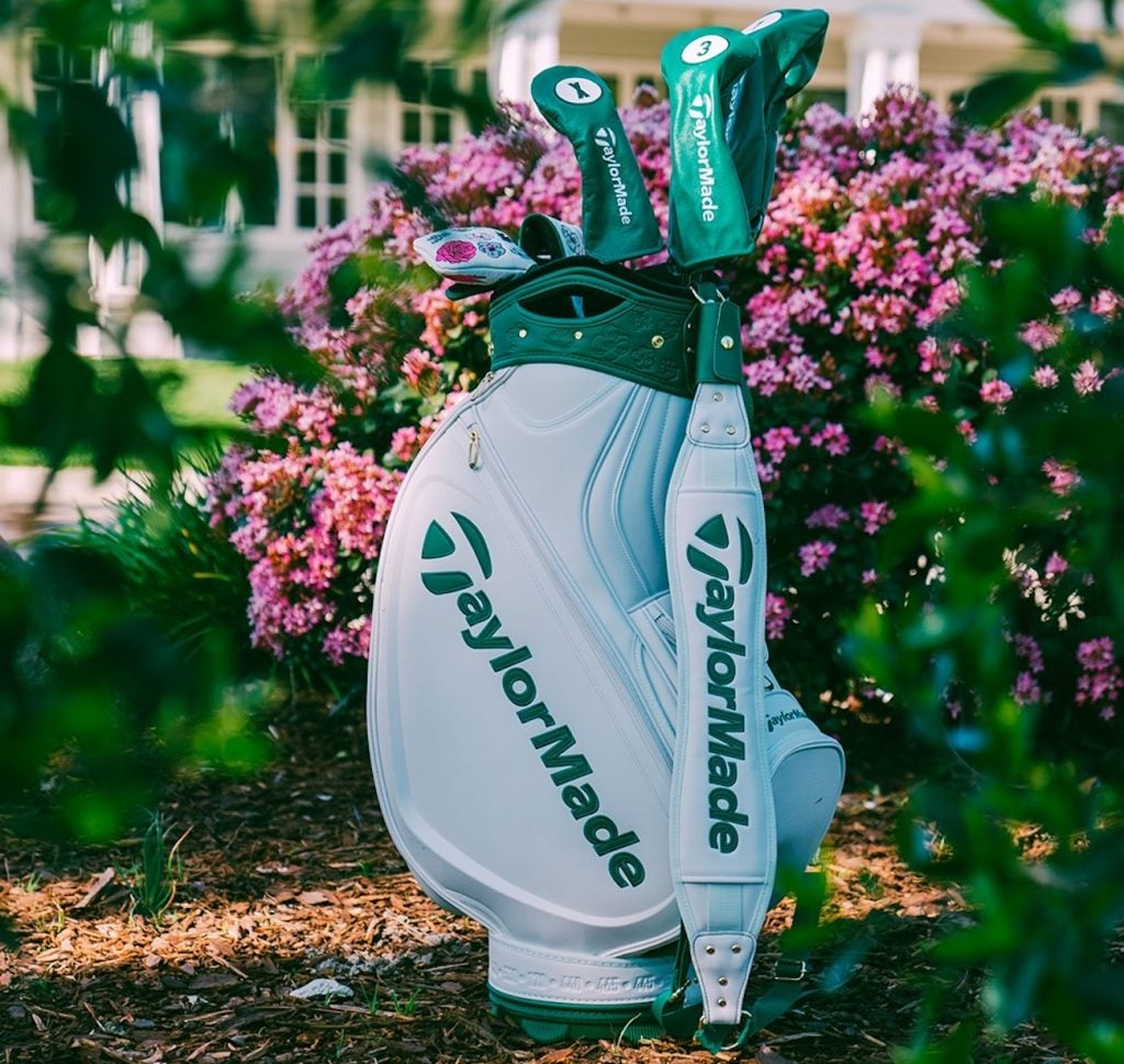 A closer look at the TaylorMade's Masters staff bag.
