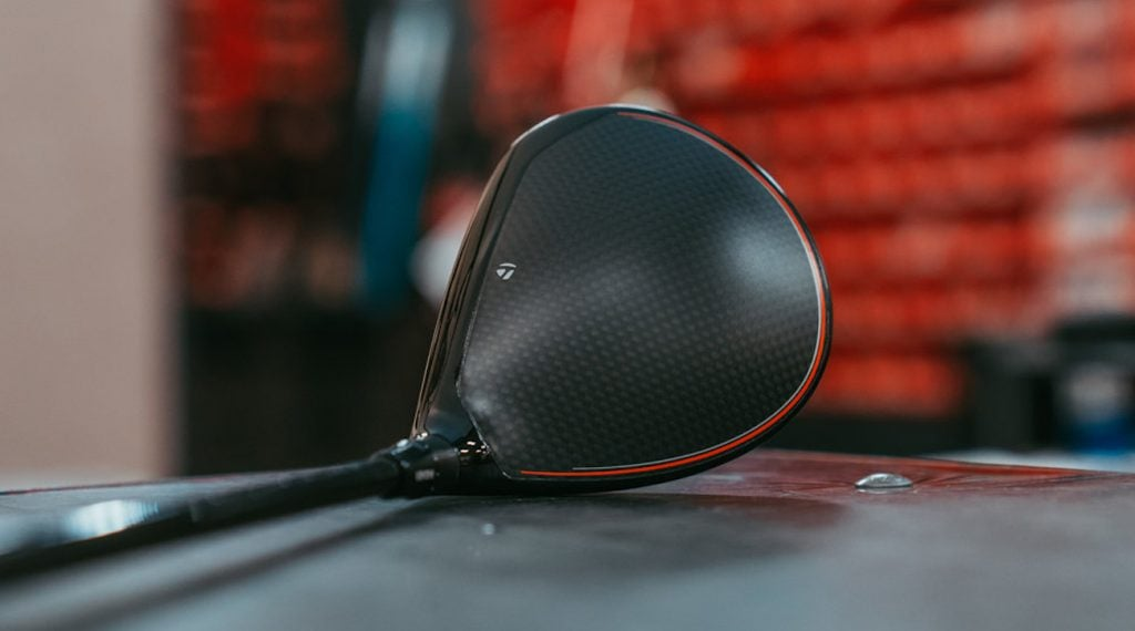 The carbon composite crown on TaylorMade's Original One Mini Driver.