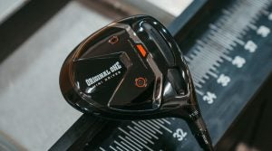 A shot of the TaylorMade Original One Mini Driver sole.