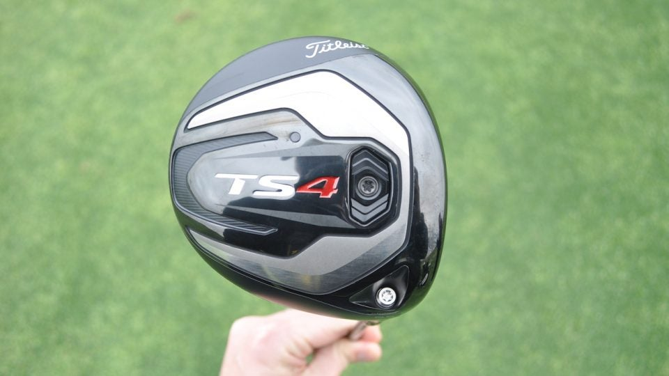 The new Titleist TS4 driver has a 430cc head.