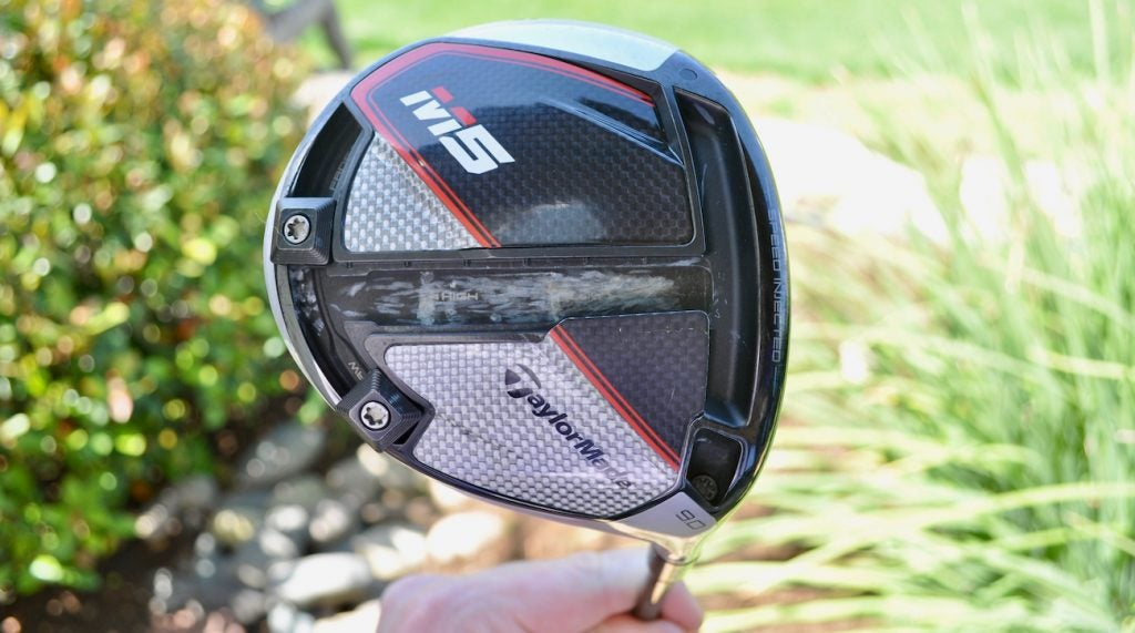 Tiger Woods' TaylorMade M5 driver.