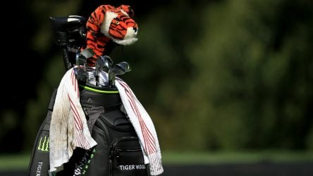 Tiger Woods' staff bag.