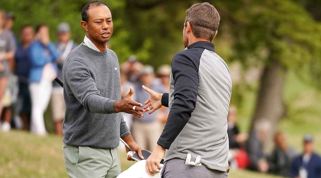 Tiger Woods advanced to the quarterfinals of the Match Play, where he fell to Lucas Bjerregaard.