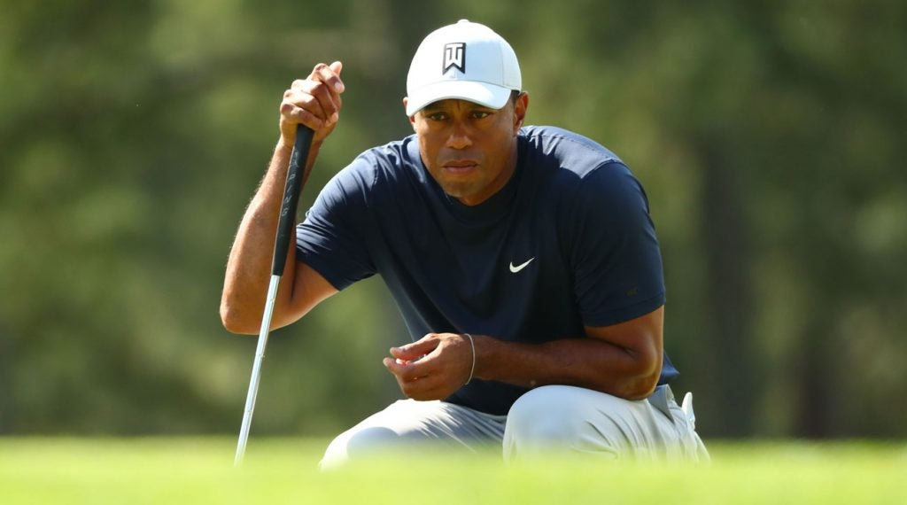Tiger Woods is in the hunt through the opening round at the 2019 Masters.