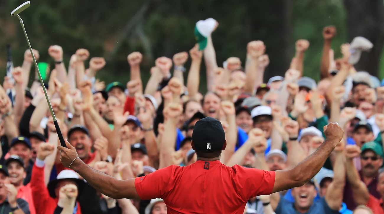 As Tiger Woods sealed his Masters, a lucky few served as