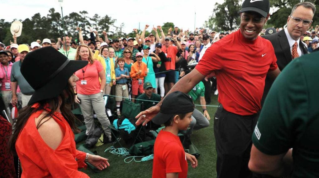 Tiger Woods celebrated with his family after winning the 2019 Masters.