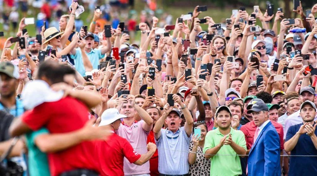 When Tiger Woods and Rory McIlroy embraced on the 18th green at last year's Tour Championship, legions of fans captured the moment.