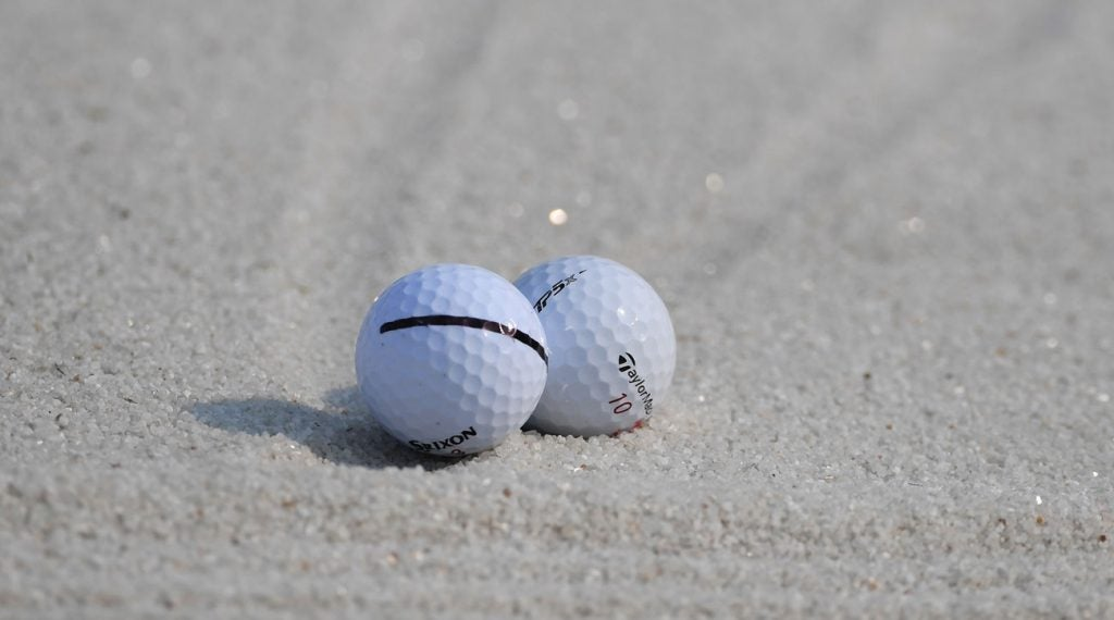 If you mark your ball prominently, it will greatly diminish the chance you'll hit someone else's.