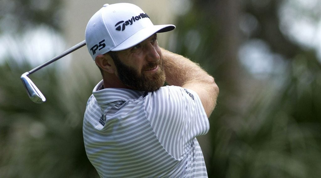 Dustin Johnson is in the lead heading into Sunday's final round.