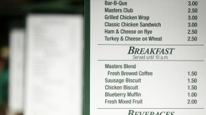 Masters concession items