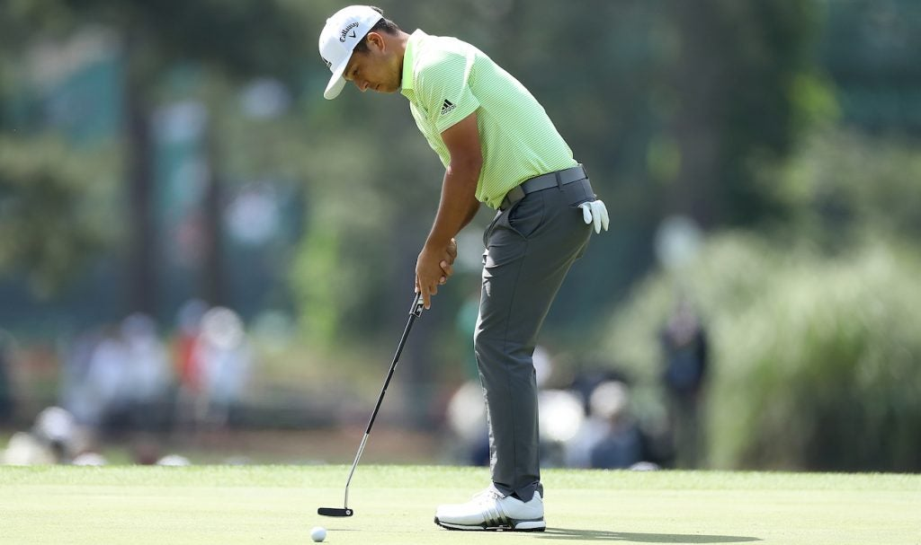 Xander Schauffele's Odyssey JETDYR Proto putter is based off the profile of his old Big T.