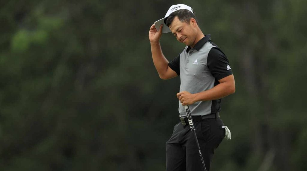 Xander Schauffele held the Masters lead on No. 14, but couldn't quite close.