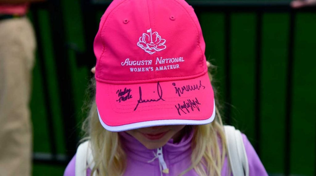 Many young girls traipsed around Augusta National vying for autographs from the competitors in the inaugural women's event.