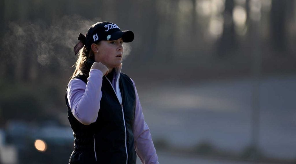 Kupcho was one of the first players to hit tee shots in the inaugural Augusta National Women's Amateur.