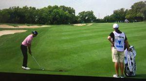 Backwards hat: Billy Horschel at the Texas Open