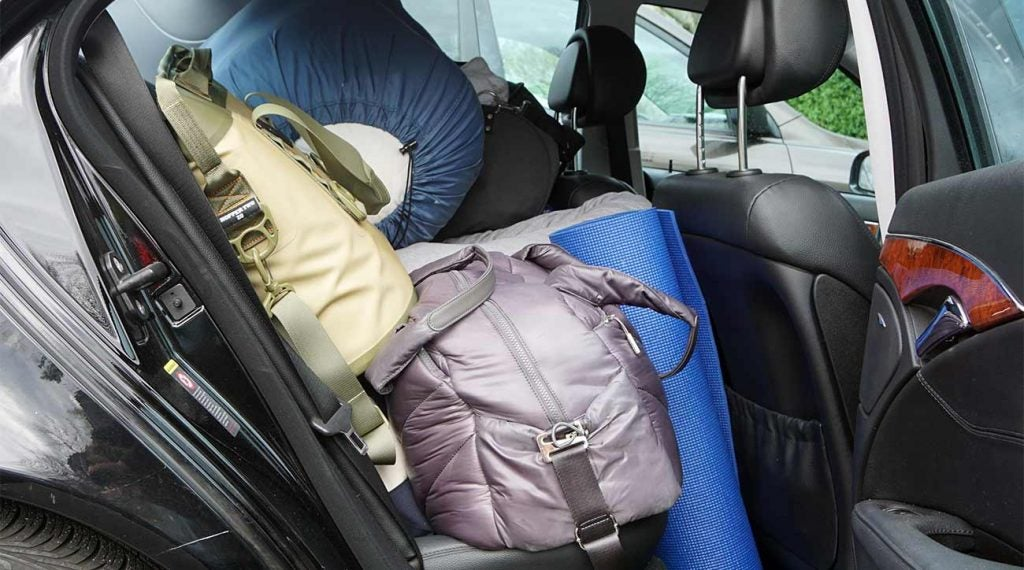 If you are staying overnight in your car, make sure to pack the essentials.