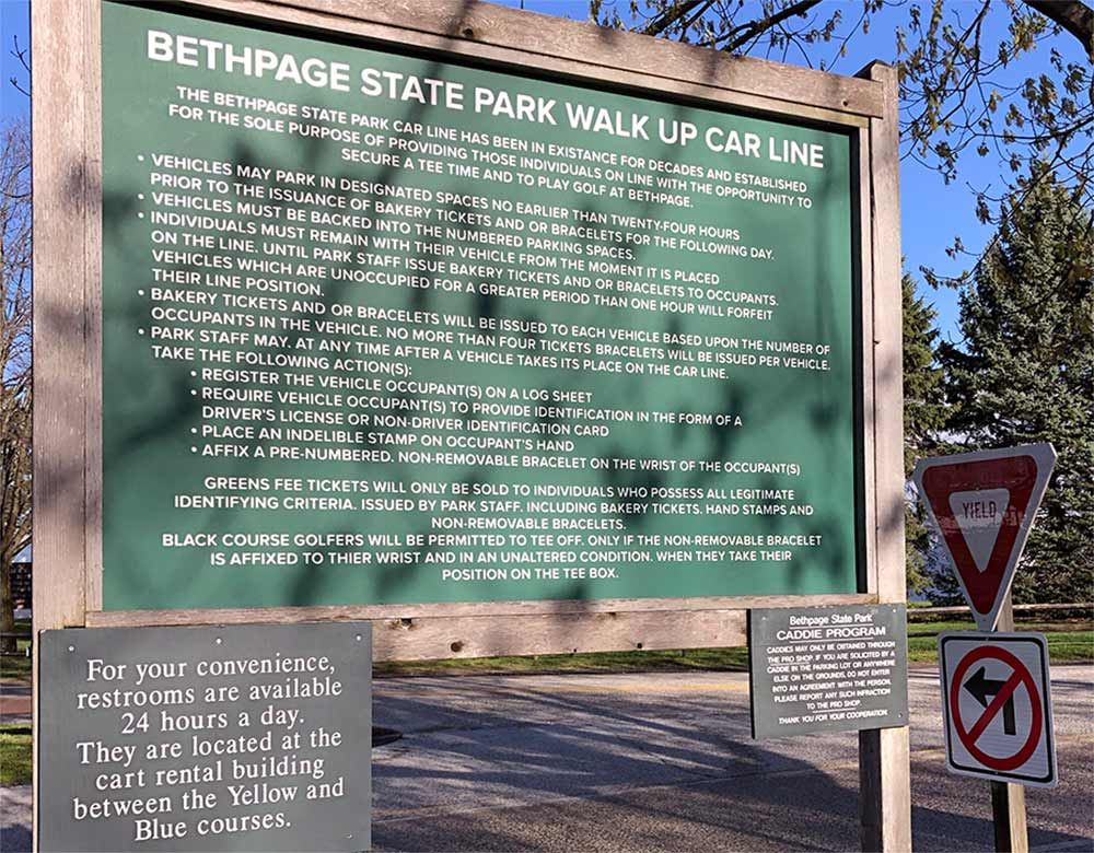 If you are going to camp out for a Bethpage tee time, you best mind the rules.