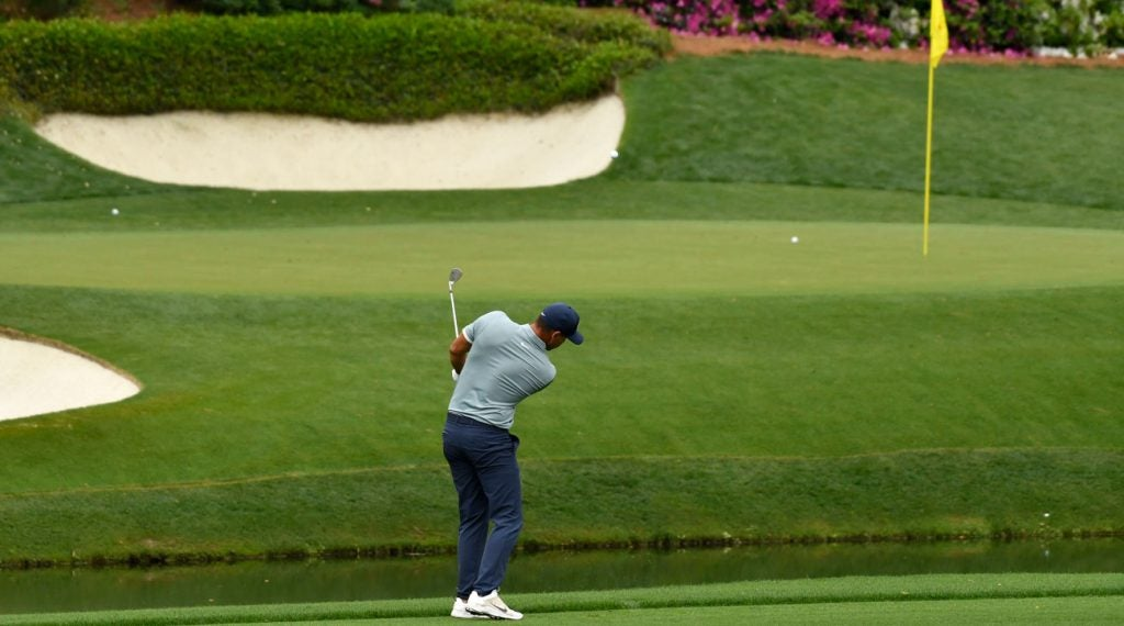 Brooks Koepka Masters hope were dashed when he hit into Rae's Creek at the 12th hole on Sunday