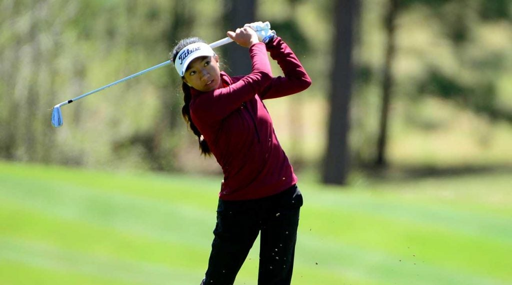 Zoe Campos is one of your 18-hole leaders down in Georgia.