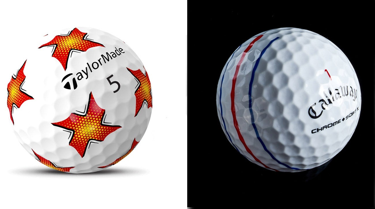 Golf ball brands employ new patterns on balls