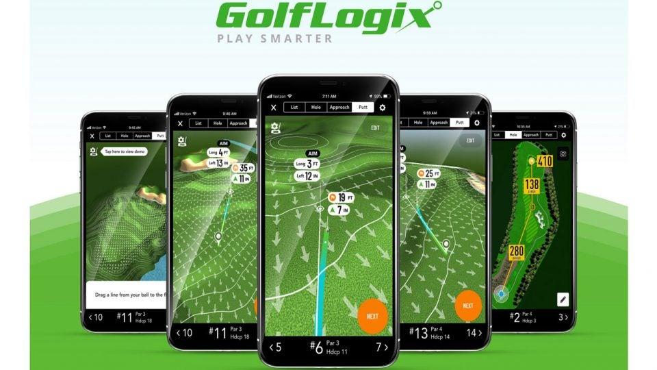 Putt line in GolfLogix app
