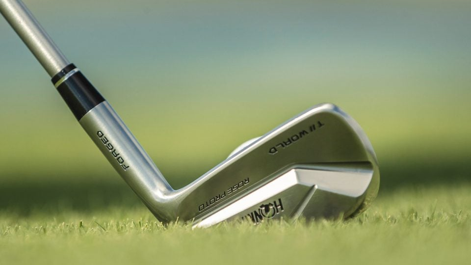 New Honma T World 747 Rose Proto Mb Irons Designed With