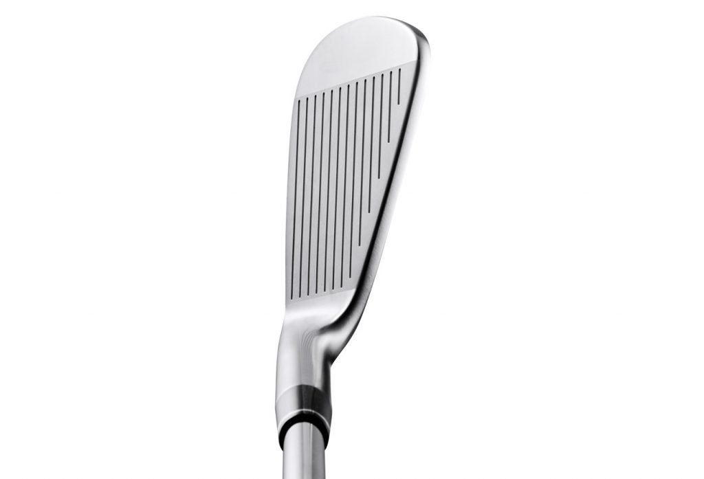 A view of the Honma T World 747 Rose Proto MB iron at address.