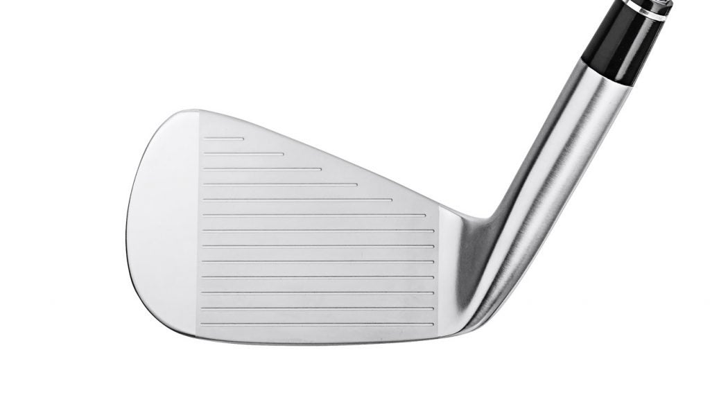 A view of the face of  Honma T World 747 Rose Proto MB iron.