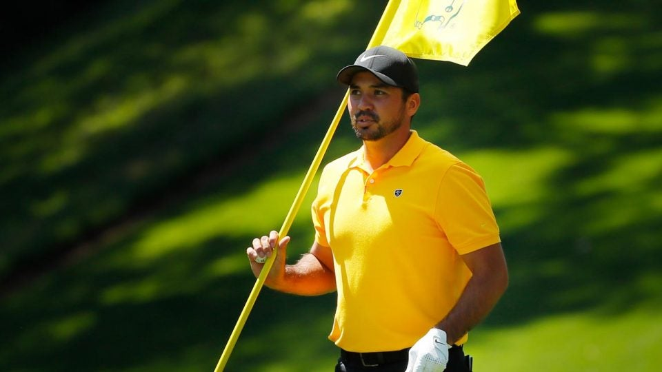 Jason Day pictured during the Masters Par-3 Contest on Wednesday
