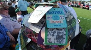 Masters ticket prices: One fan's big collection of Masters badges