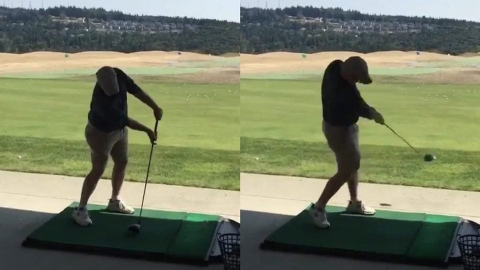 Golf's newest viral swing is here.