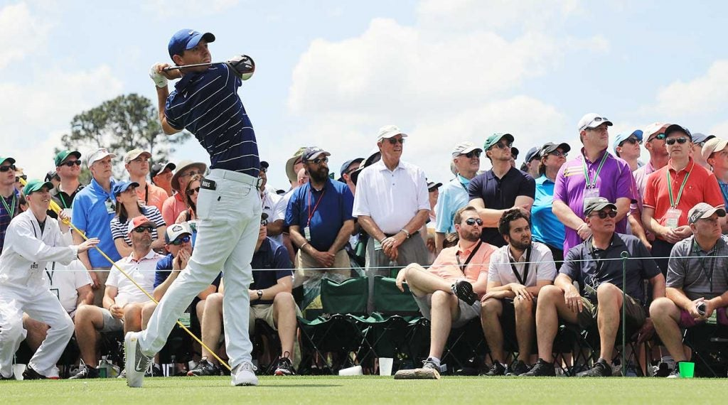 Masters patrons watched Rory McIlroy (and others) with their own eyes and not through their phones.
