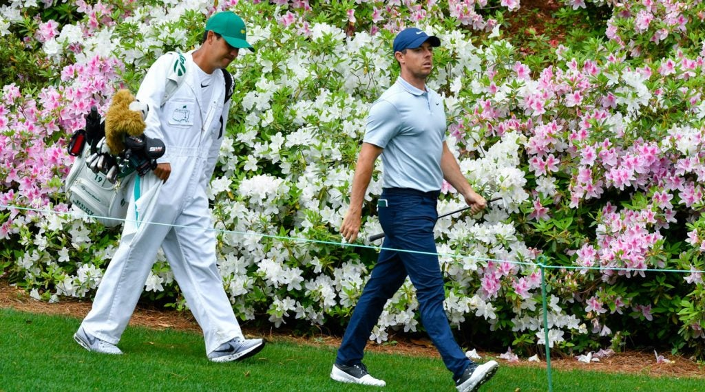 Rory McIlroy is back at Augusta National, chasing the career grand slam.