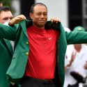 Tiger Woods green jacket Sunday at the Masters