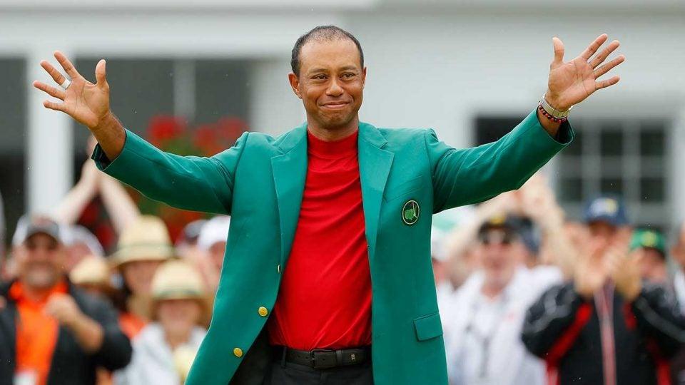 Tiger Woods won the Masters on Sunday.