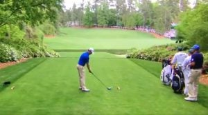 Zach Johnson on the 13th tee Friday at the 2019 Masters