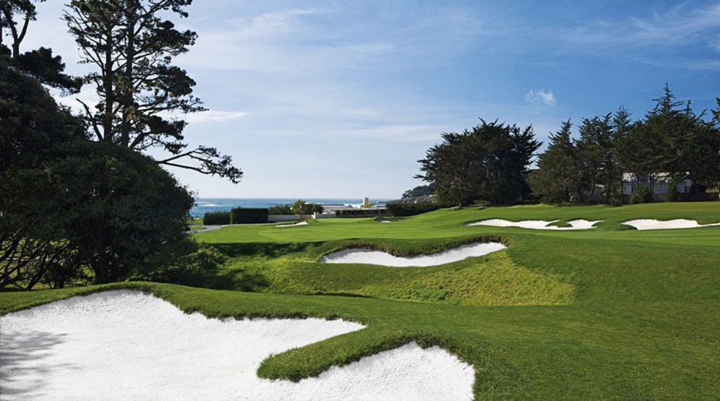 The third hole at Pebble Beach.