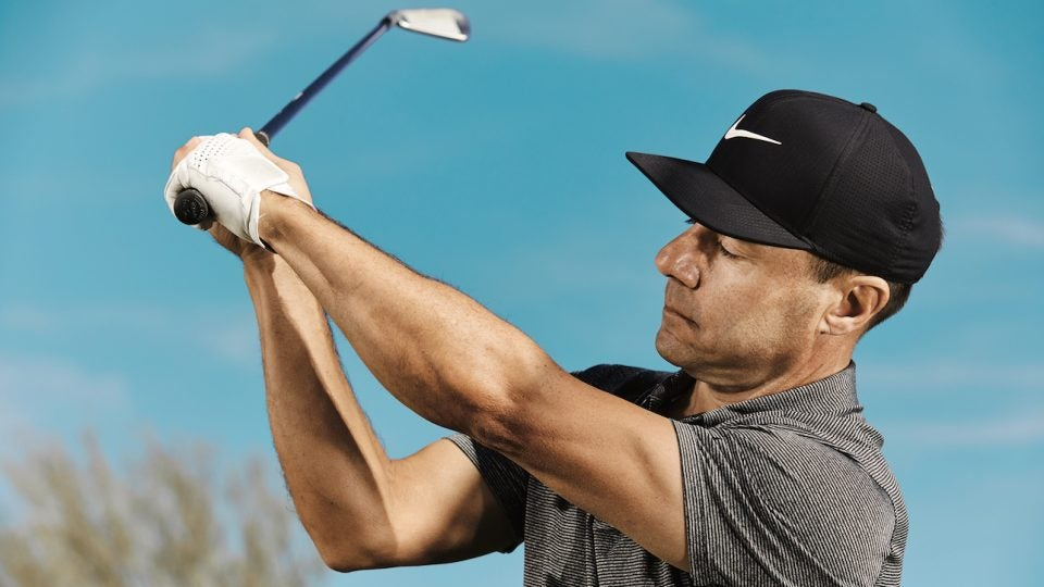 right arm backswing