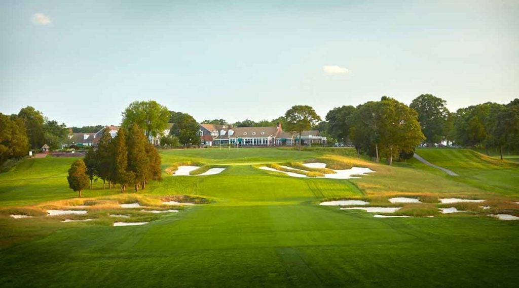 The par-4 18th hole at Bethpage Black.