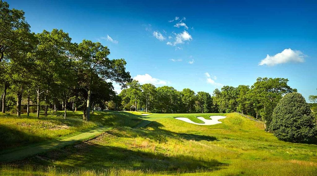 The par-3 14th hole at Bethpage Black.