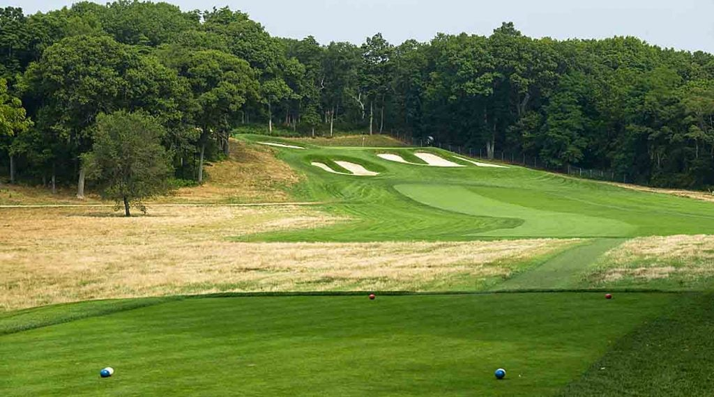 The par-4 15th hole at Bethpage Black.