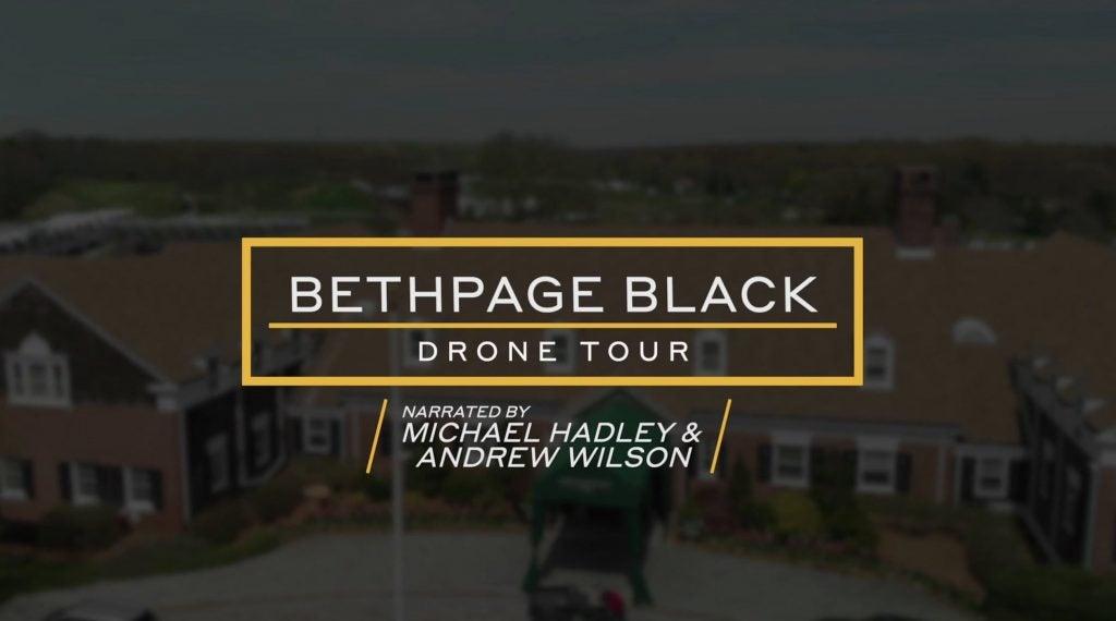 bethpage black drone tour