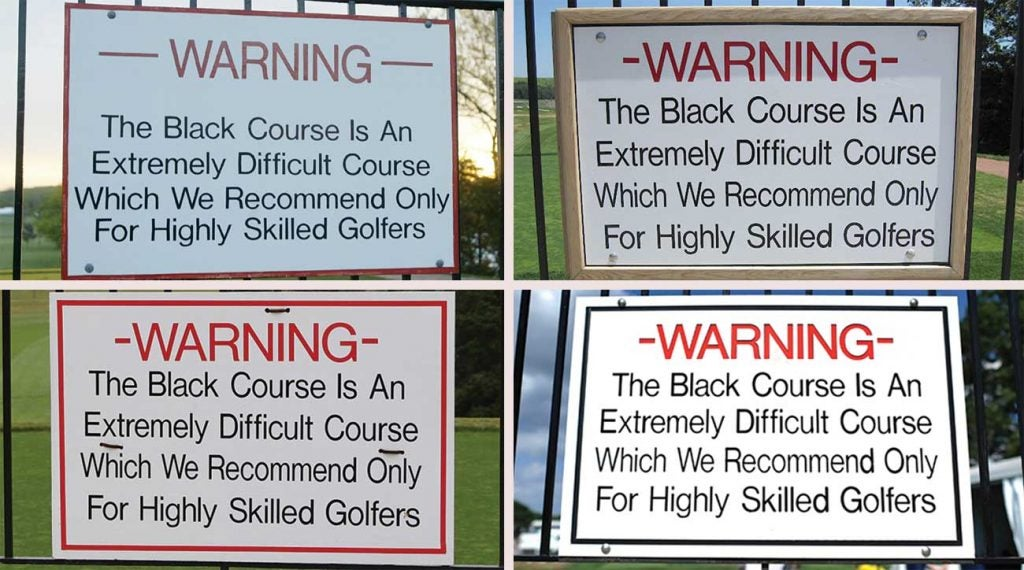 The Bethpage Black sign has changed slightly over the years, but the course doesn't get any easier.
