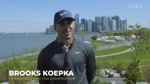 Brooks Koepka in NYC