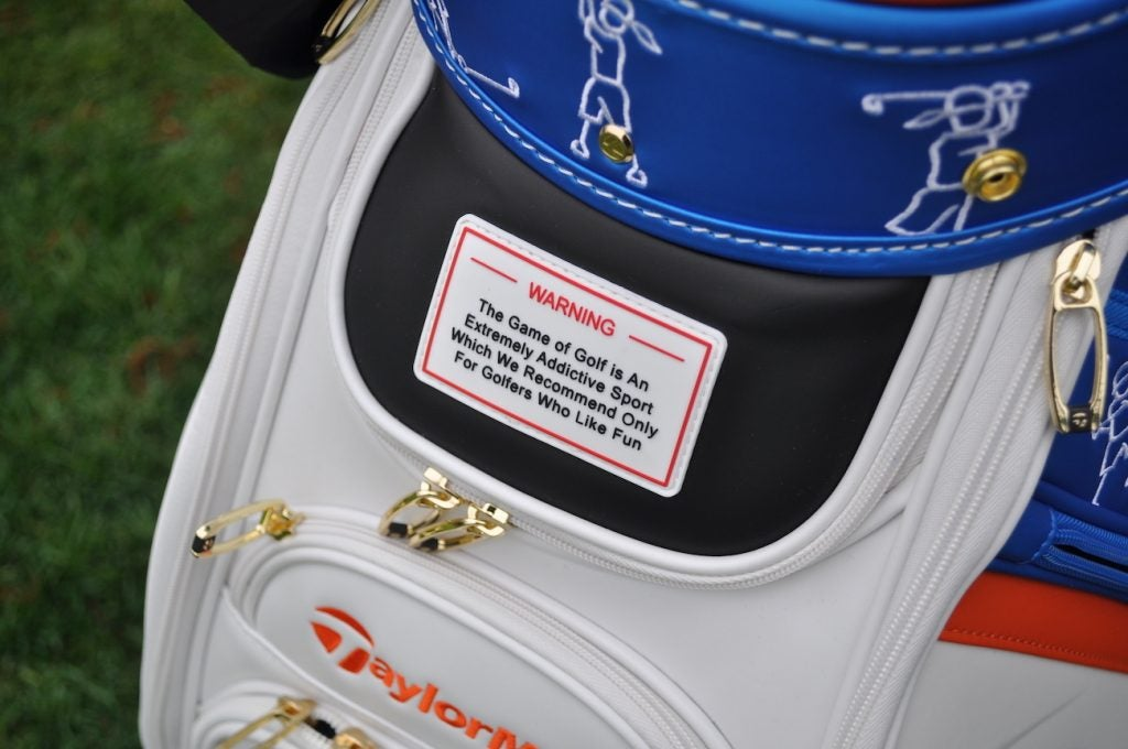 TaylorMade's rendition of Bethpage Black's famed warning sign has a more friendly tone.