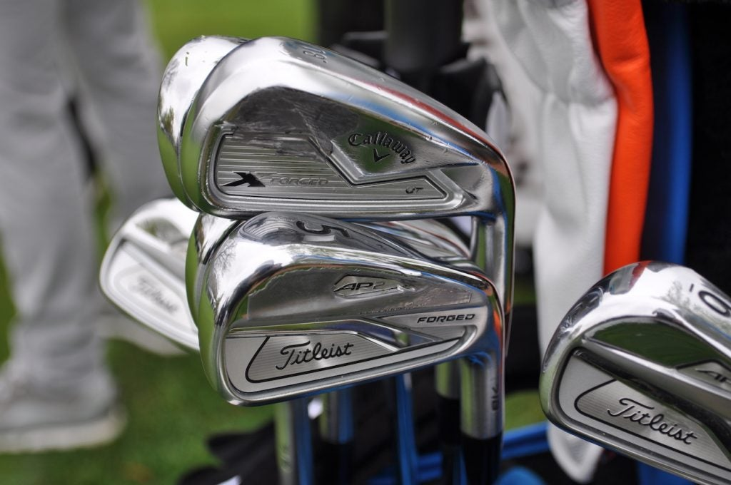 Luke List's mixed iron set consists of Callaway X Forged UT and Titleist 718 AP2.