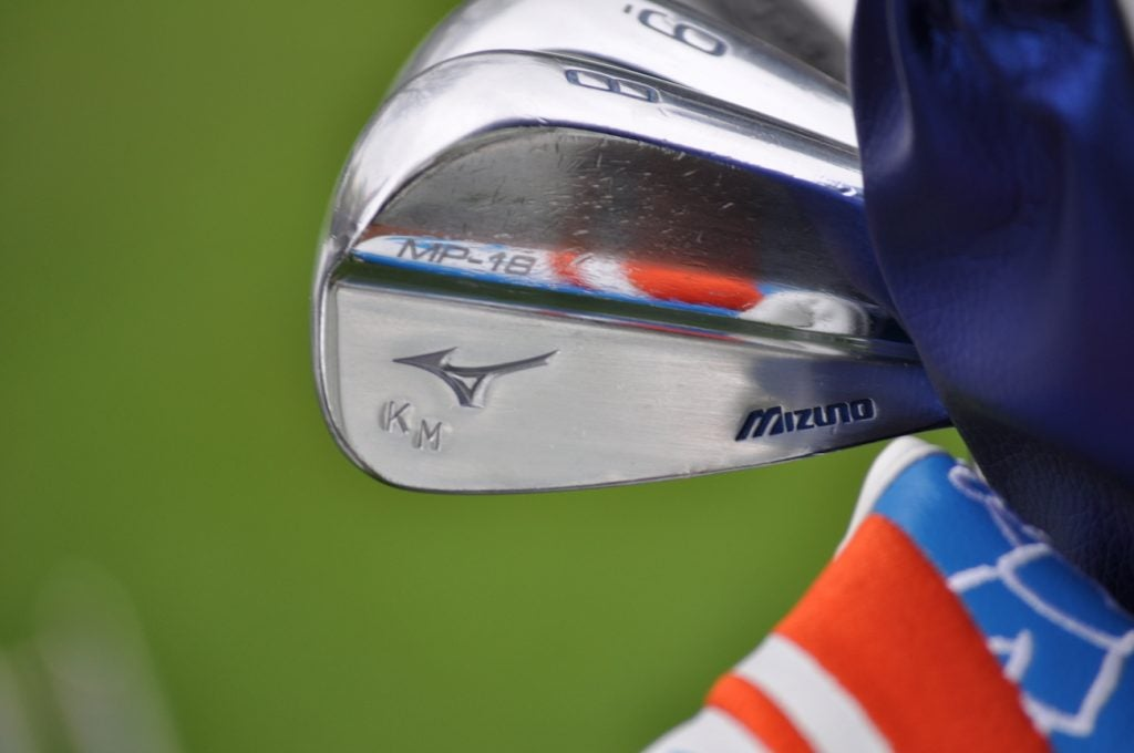 Keith Mitchell's Mizuno MP-18 irons.