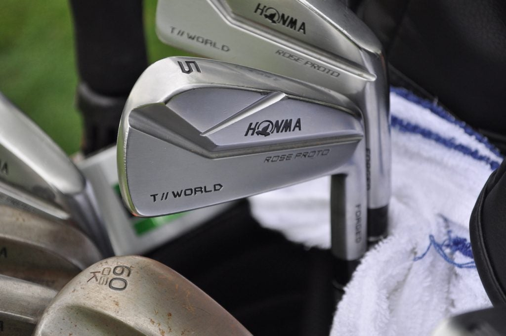 Justin Rose has been using Honma's Rose Proto irons since he signed with the company in January.