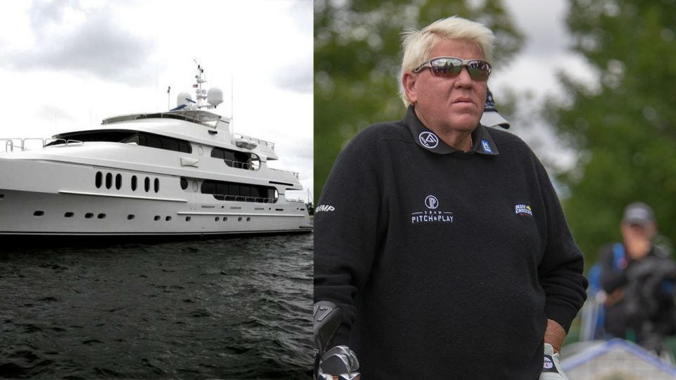 You can't miss Tiger's yacht docked on Long Island, and John Daly let it be known he's done with Walmart.
