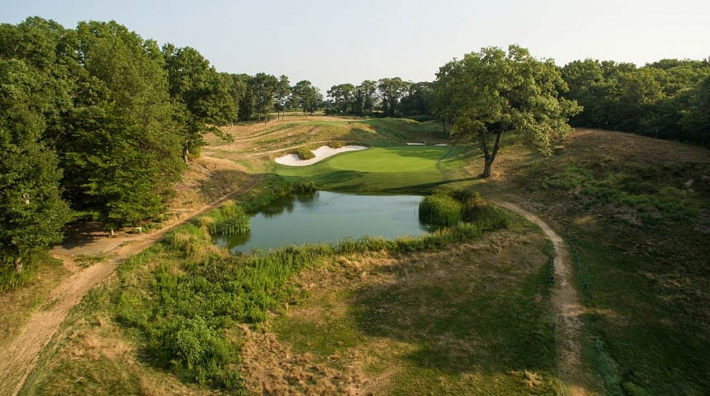 The eighth hole at Bethpage Black.